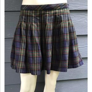 Gap Womens Skirt Multicolor Plaid Pleated Sz 8